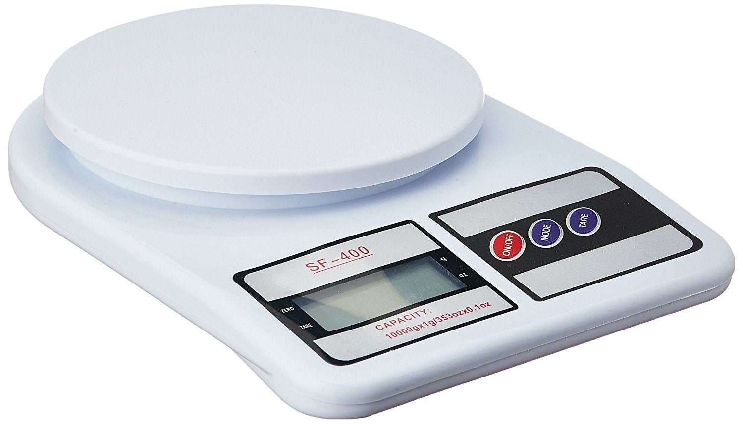 Plastic Electronic Kitchen Digital Weighing Scale, Multipurpose (White, 10 Kg)