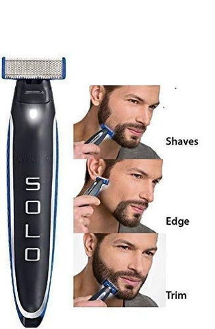 Gadgetbucket Mens SOLO Trimmer Rechargeable Full Body Cordless Smart Beard Trimmer and Razor Shaver