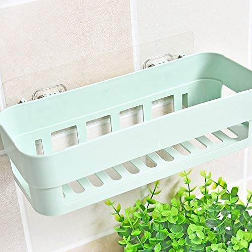 Multipurpose Kitchen Bathroom Shelf Wall Holder Storage Rack Bathroom Rack Storage Box Strong Magic Sticker Shower Rack Shelf - Random Color