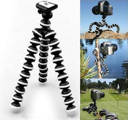 Un-Tech Flexible Octopus Foldable Tripod for Camera, DSLR and Smartphones with Universal Mobile Attachment(White & Black)