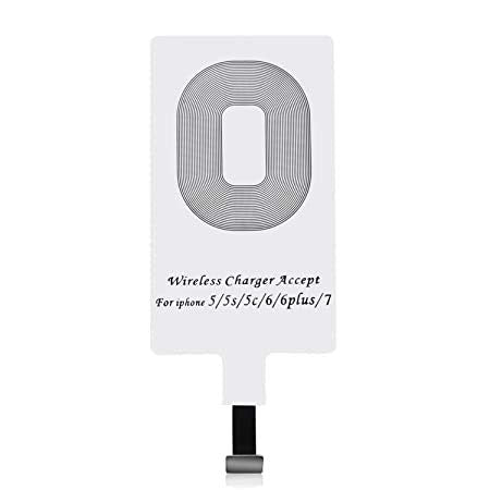 Wireless Charging Receiver for iPhone 5-5c- SE- 6-6 Plus- 7-7 Plus