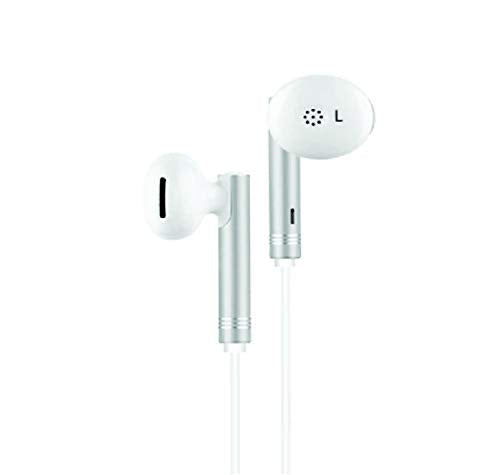 Un-Tech Wired in-Ear Headphone with 3.5 mm Jack and Mic for All Smartphones Iphones-GH59 (White)--pack of 2