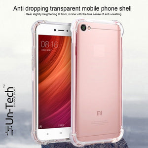 Redmi Y1 Transparent Mobile Back Cover Case with TPU Corner Protection
