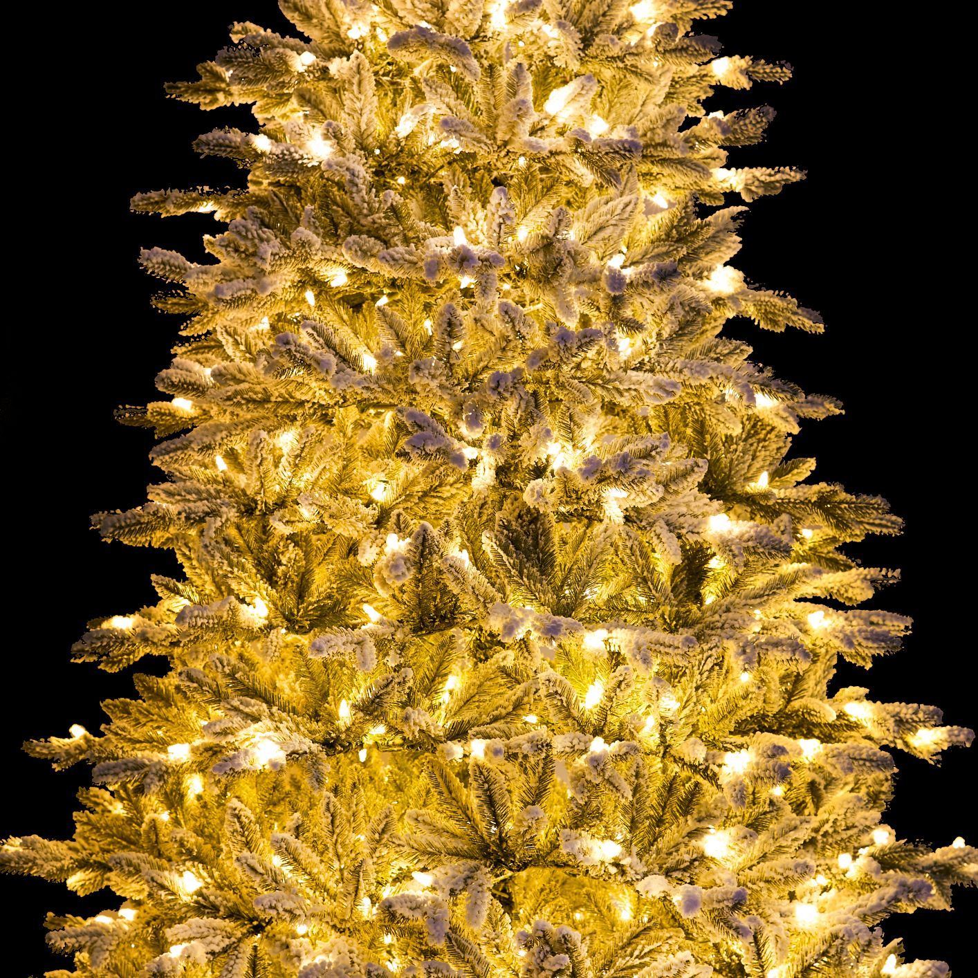 10 Foot Queen Flock™ Artificial Christmas Tree 1200 LED ...