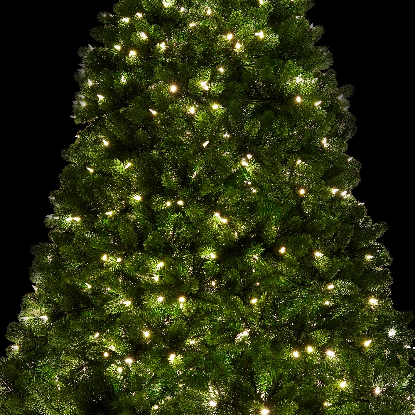 10 Royal Fir Quick Shape Artificial Christmas Tree With 1600 Warm White Multi Color Color Led Lights