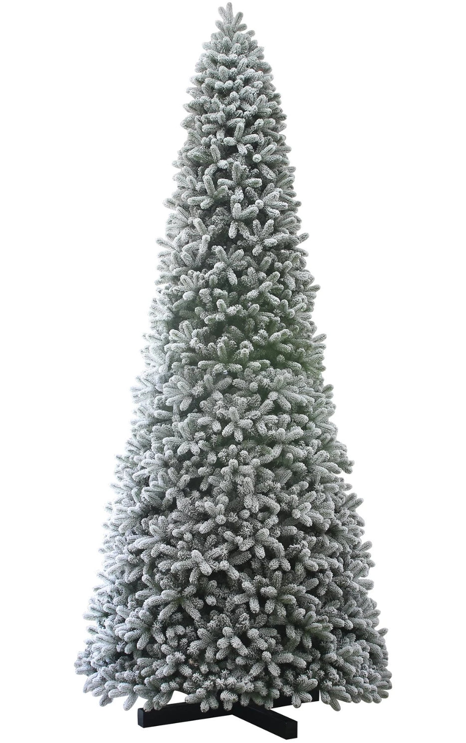 15 Foot King Flock® Quick-Shape Artificial Christmas Tree with 2000 Warm White LED Lights