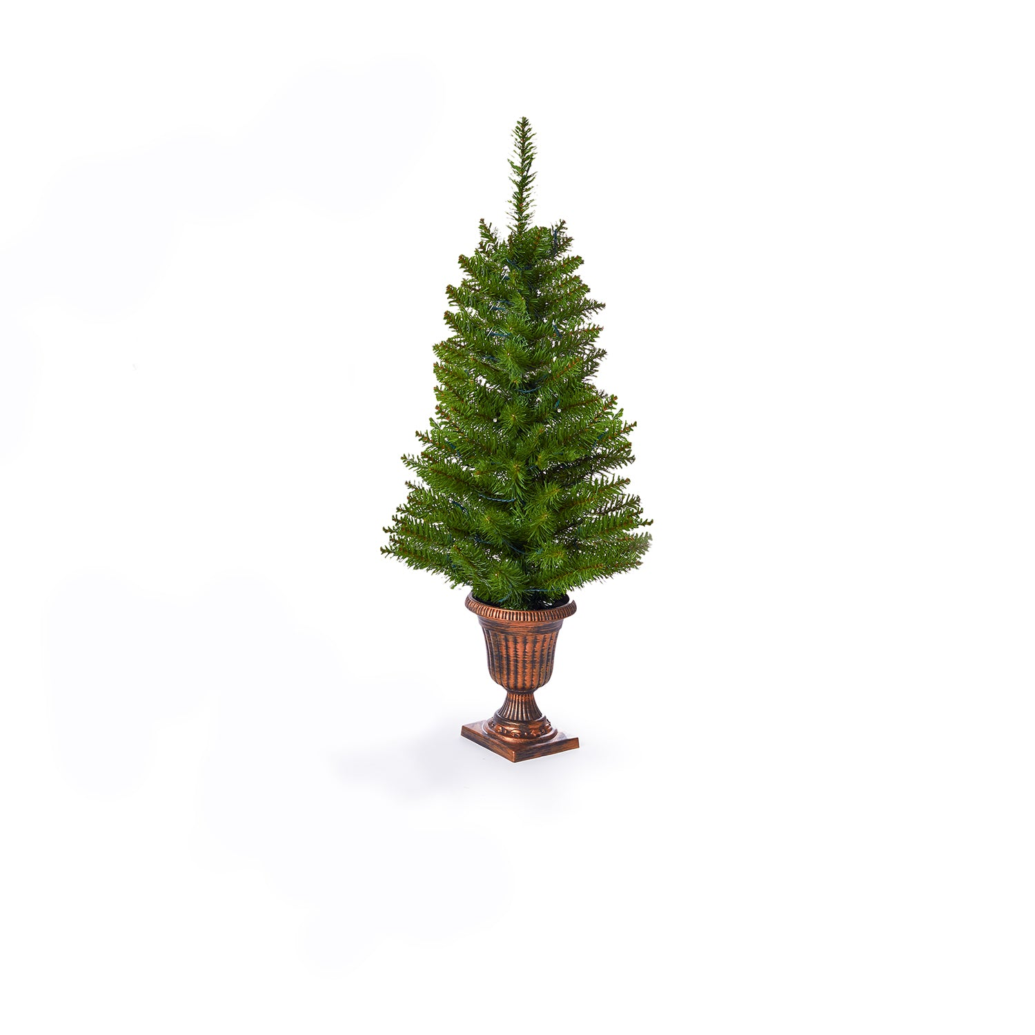 3' Tribeca Spruce Green Mini-Tree with 70 Warm White LED (Battery Operated) (set of 2 per box)