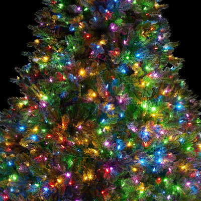 6.5' Cypress Spruce Artificial Christmas Tree with 1000 Warm White & Multi-Color Color LED Lights