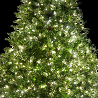 6 5 Cypress Spruce Artificial Christmas Tree With 1000 Warm White Multi Color Color Led Lights