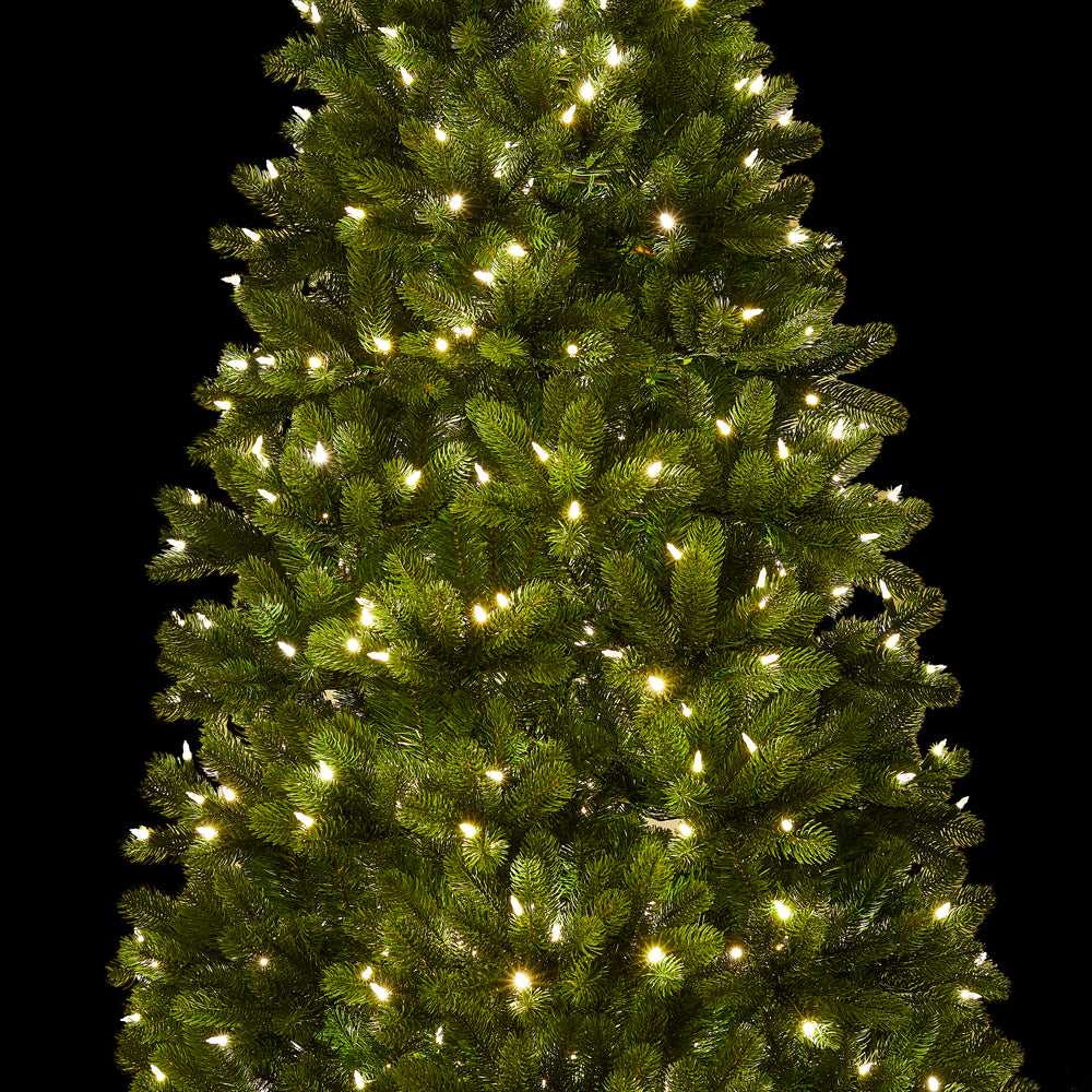 6 5 Royal Fir Slim Quick Shape Artificial Christmas Tree With 500 Warm White Multi Color Color Led Lights