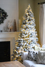 Load image into Gallery viewer, 6' Prince Flock® Artificial Christmas Tree with 350 Warm White LED Lights