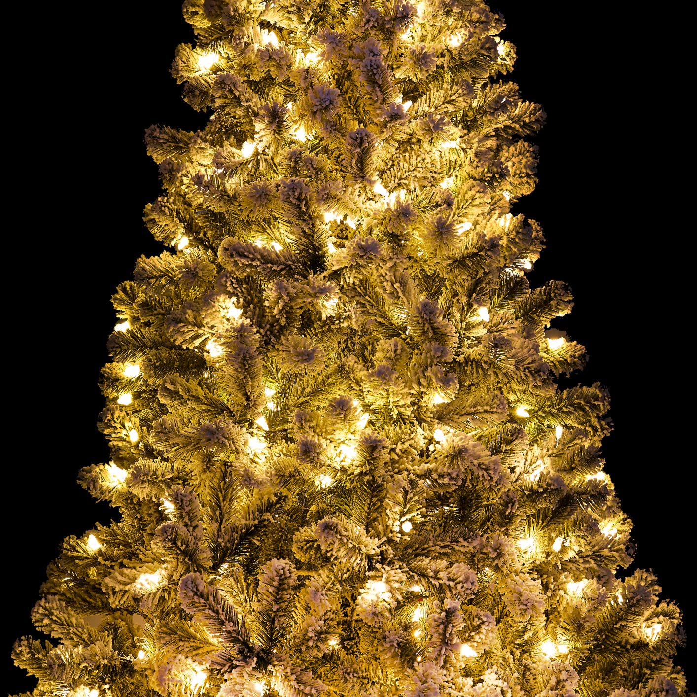 6 Prince Flock Artificial Christmas Tree With 350 Warm White Led Lights