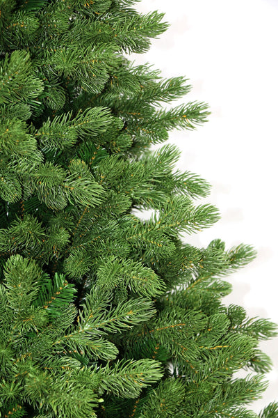 7.5' Cypress Spruce Artificial Christmas Tree with 1450 Warm White & Multi-Color Color LED Lights