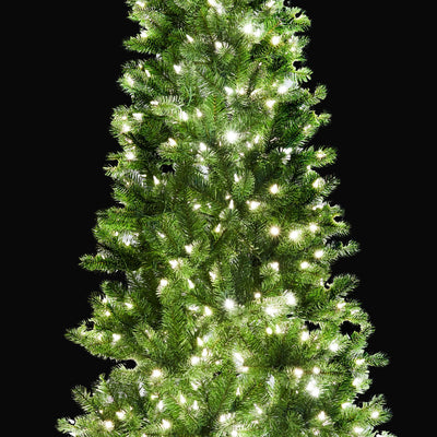 7.5 King Douglas Fir Slim Quick-Shape Artificial Christmas Tree with 650 Warm White & Multi-Color LED Lights