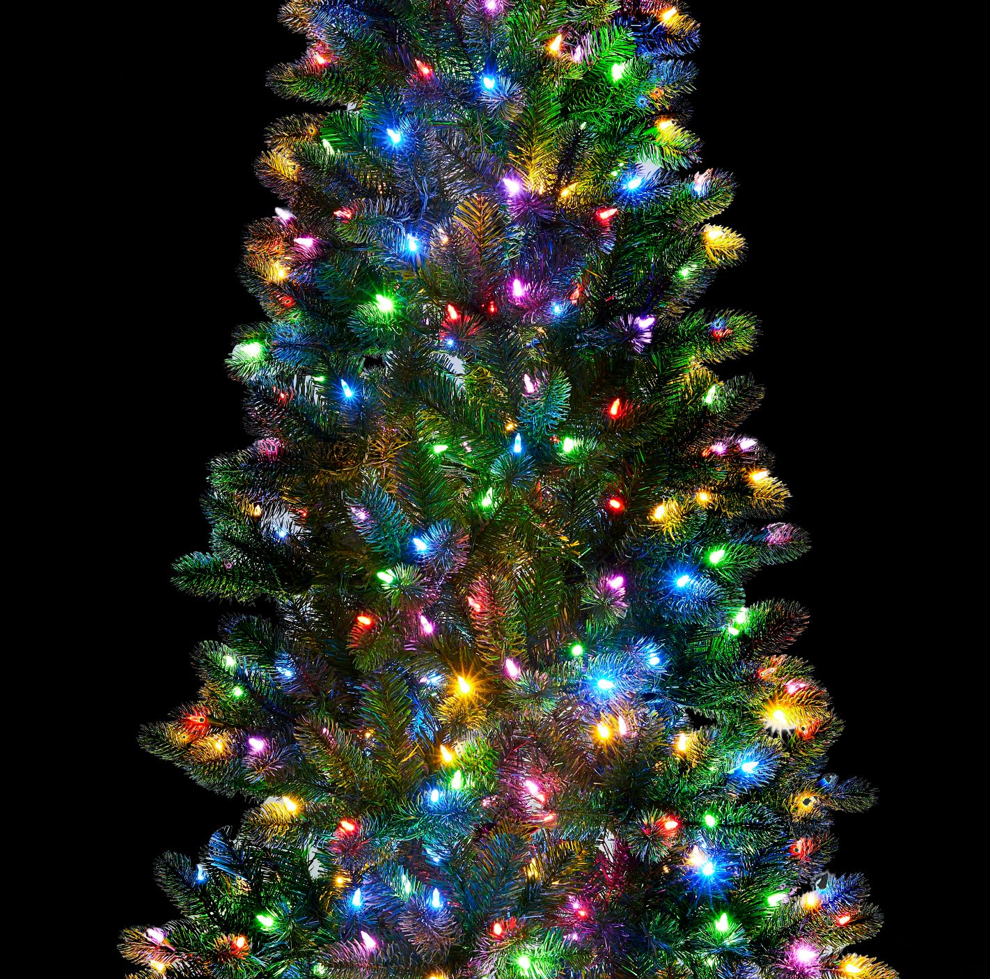 7 5 King Douglas Fir Slim Quick Shape Artificial Christmas Tree 650 Dual Color Led Lights King Of Christmas