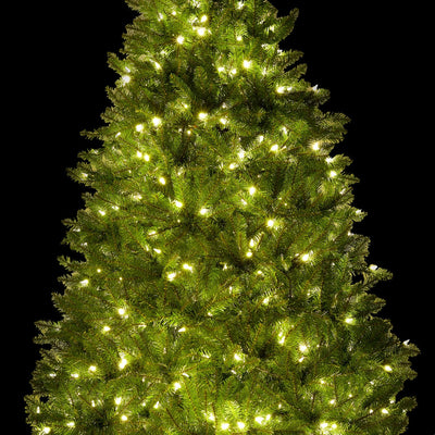 9' Yorkshire Fir Artificial Christmas Tree with 850 Warm White LED Lights