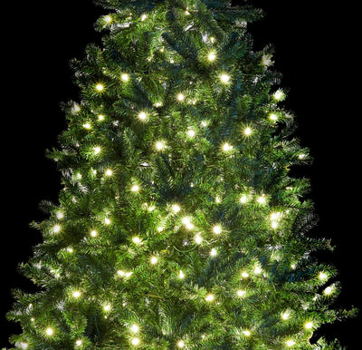 9' Hancock Spruce Artificial Christmas Tree with 640 Warm White LED Lights