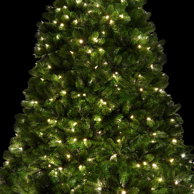 9' Royal Fir Quick-Shape Artificial Christmas Tree with 1200 Warm White & Multi-Color Color LED Lights