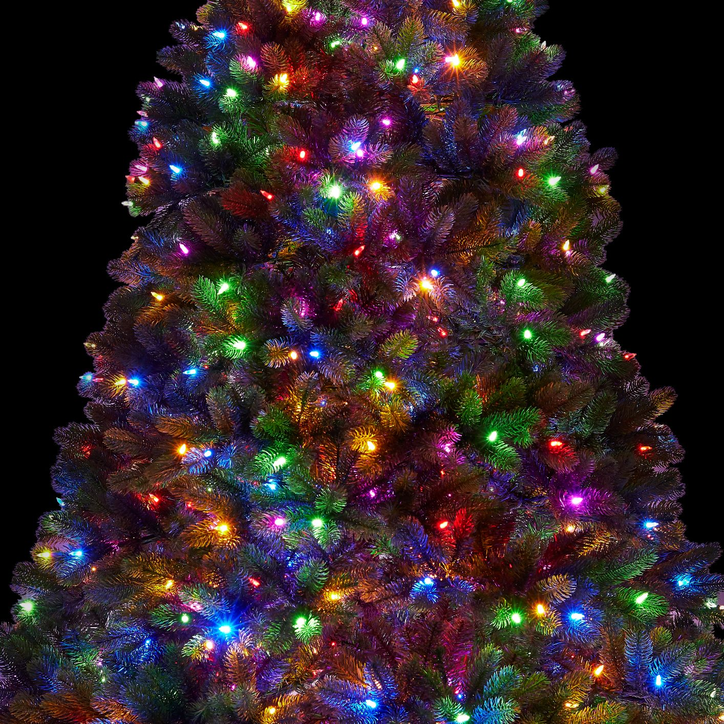 9 Foot Royal Fir Quick Shape Artificial Christmas Tree 1200 Dual Color Led Lights King Of Christmas