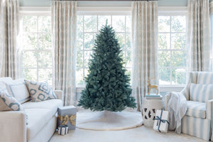9' Tribeca Spruce Blue Artificial Christmas Tree Unlit