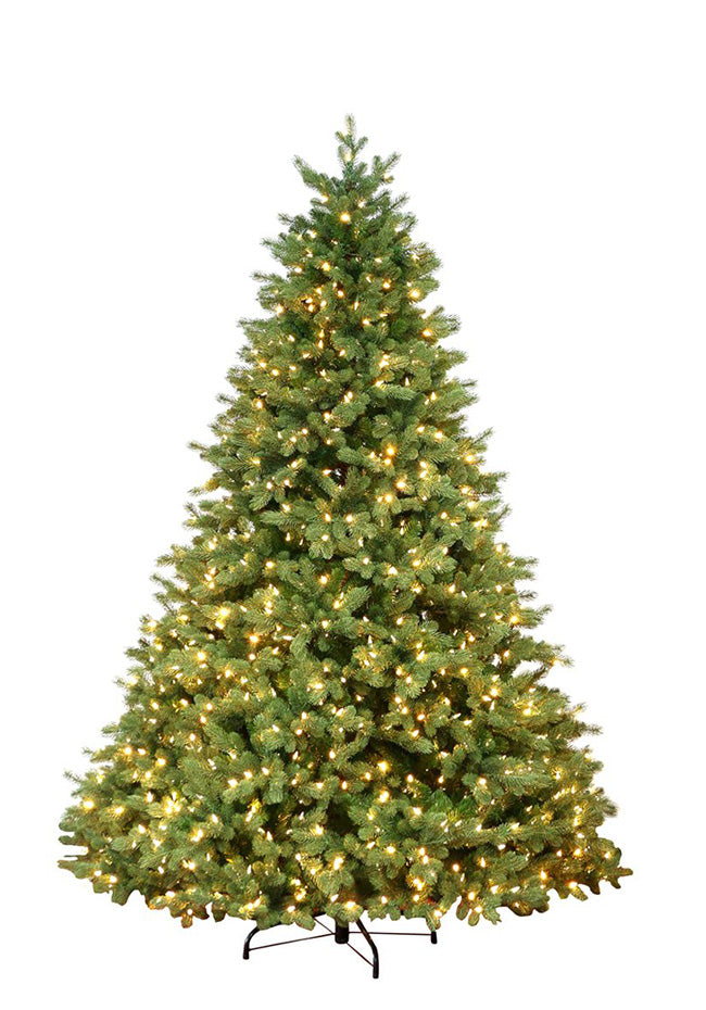 9' Cypress Spruce Artificial Christmas Tree with 2050 Warm White & Multi-Color Color LED Lights