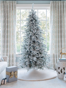 7.5' Queen Flock® Slim Artificial Christmas Tree Tree Unlit