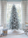 Load image into Gallery viewer, (Open Box) 6.5' Queen Flock® Slim Artificial Christmas Tree Tree Unlit, FINAL SALE