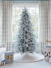 Load image into Gallery viewer, 6.5' Queen Flock® Slim Artificial Christmas Tree Tree Unlit