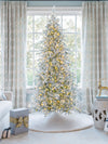 Load image into Gallery viewer, 7.5' Queen Flock® Slim Artificial Christmas Tree With 650 Warm White LED Lights