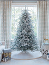 Load image into Gallery viewer, 8' Queen Flock® Artificial Christmas Tree Unlit