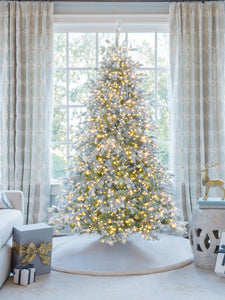 9' Queen Flock® Artificial Christmas Tree with 1100 Warm White LED Lights