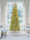 Load image into Gallery viewer, 9' King Douglas Fir Slim Quick-Shape Artificial Christmas Tree with 750 Warm White & Multi-Color LED Lights
