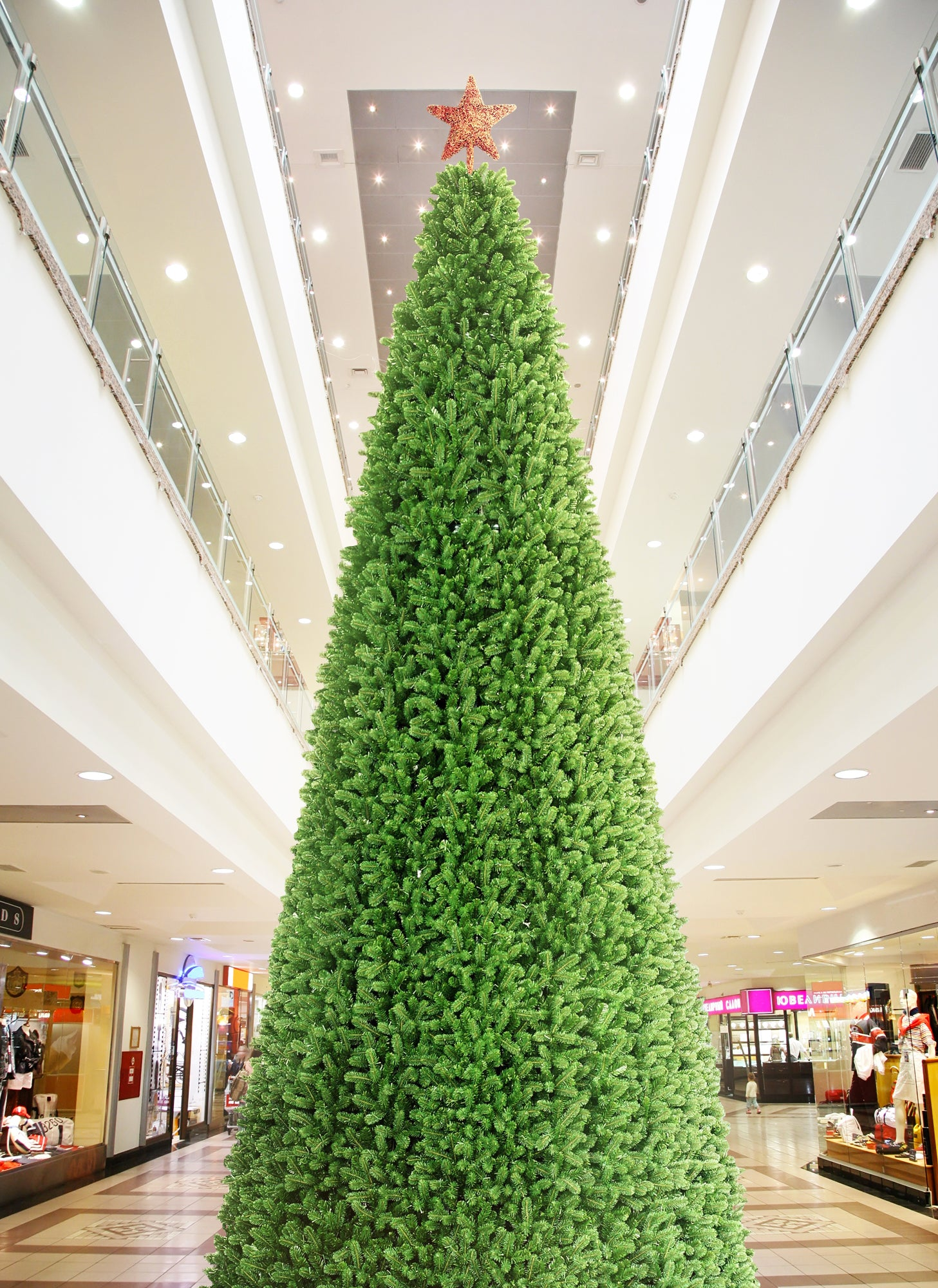 30 Foot Giant Commercial Artificial Christmas Tree With Warm White LED Lights