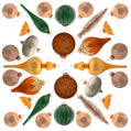 Load image into Gallery viewer, Natural 30-Piece Glass Ornament Set (Burnt-Orange, Green) Limited Edition