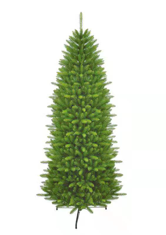 7.5' Yorkshire Fir Slim Artificial Christmas Tree with 500 Warm White LED Lights