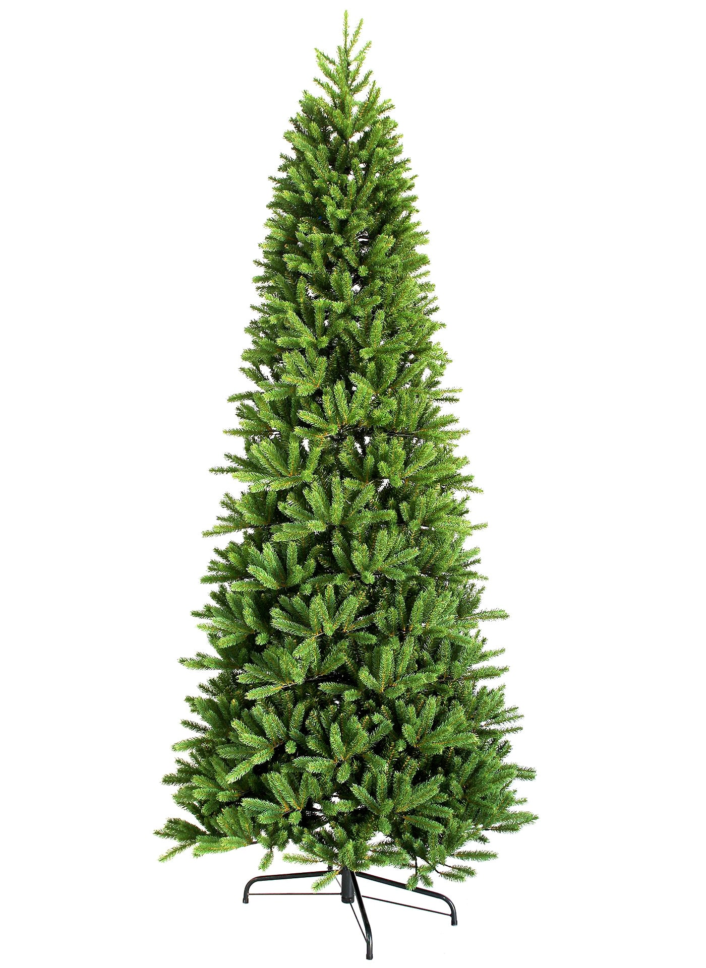 12' King Fraser Fir Slim Artificial Christmas Tree with 1250 Warm White LED Lights