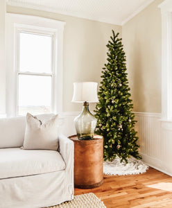 9' King Douglas Fir Slim Quick-Shape Artificial Christmas Tree Unlit