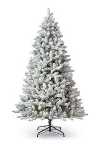(OPEN BOX) 7.5' King Flock® Artificial Tree Unlit, FINAL SALE