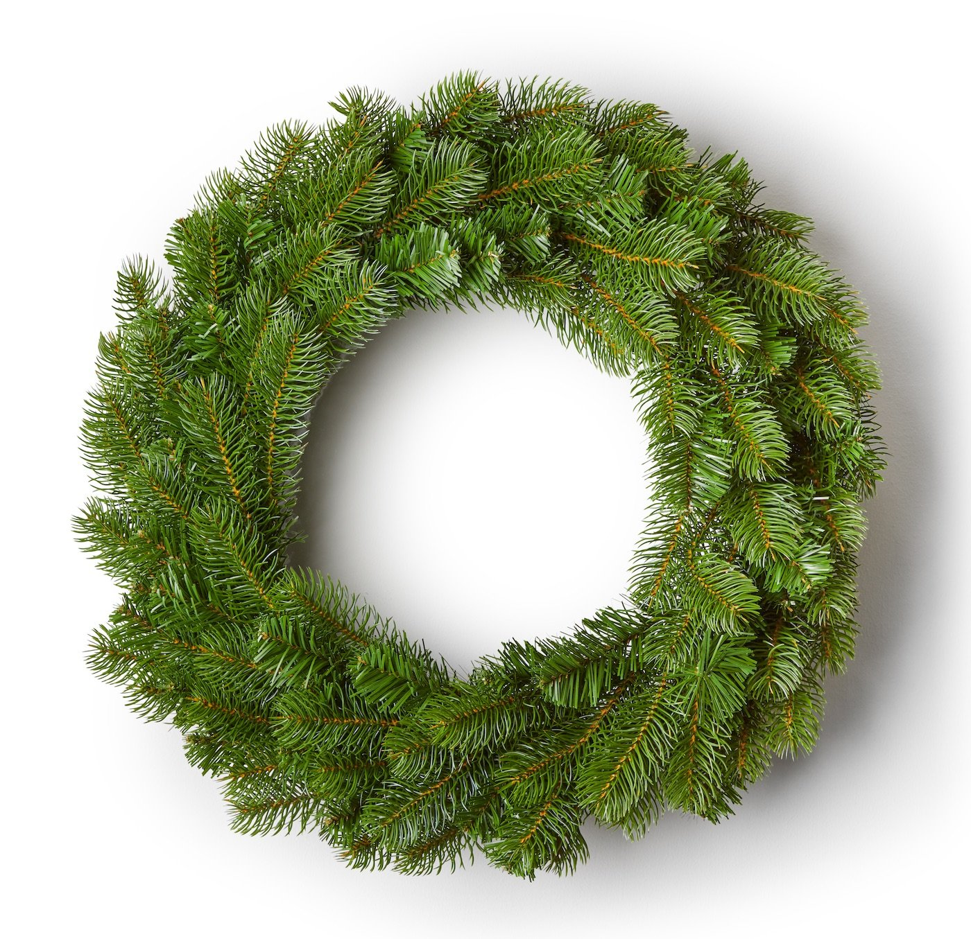 "36"" King Douglas Fir Wreath With 150 Warm White LED Lights (Plug Operated)"