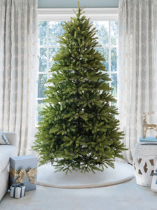 6.5' King Fraser Fir Quick-Shape Artificial Christmas Tree with 750 Warm White & Multi-Color LED Lights