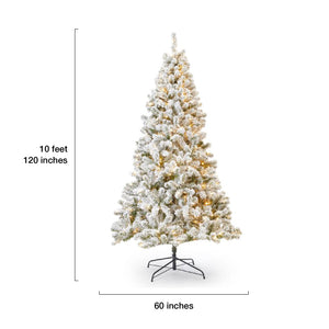 10' Prince Flock® Artificial Christmas Tree with 750 Warm White LED Lights