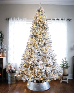 8' Prince Flock® Artificial Christmas Tree with 550 Warm White LED Lights