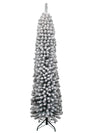 Load image into Gallery viewer, 7' Prince Flock Pencil Artificial Christmas Tree with 250 Warm White LED Lights