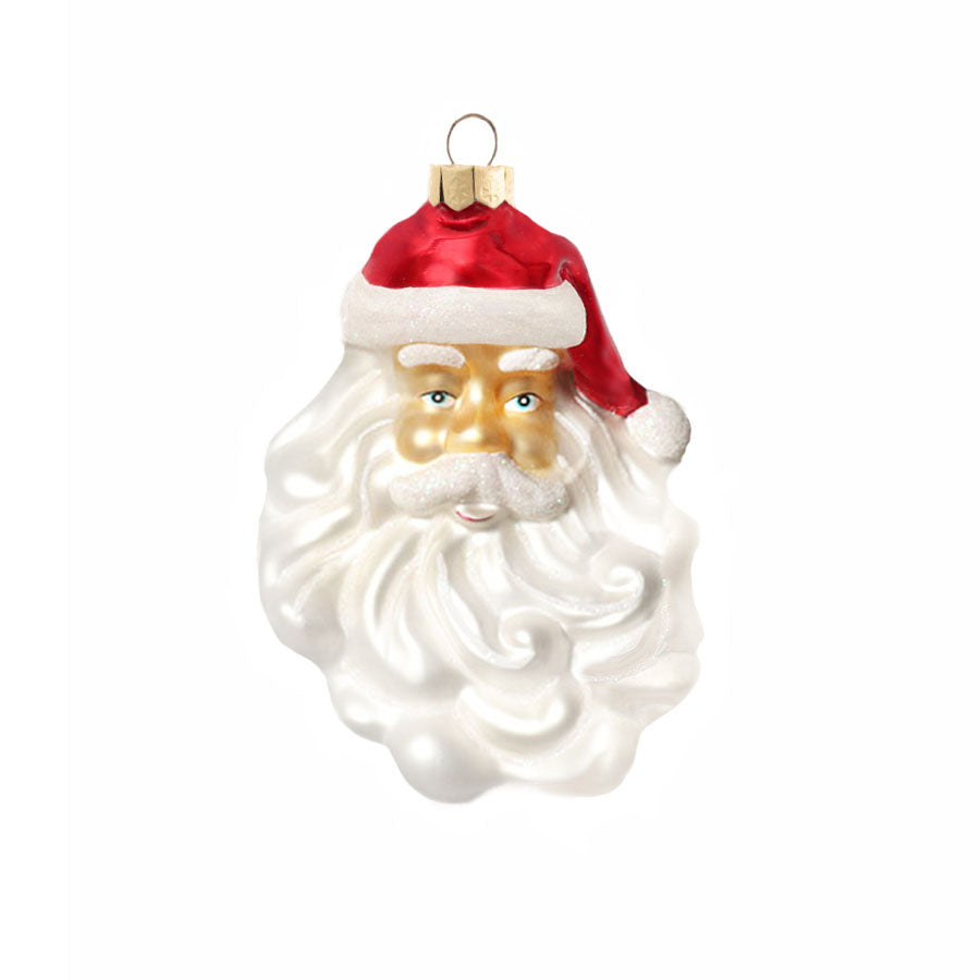 4 Pack Santa Glass Ornament