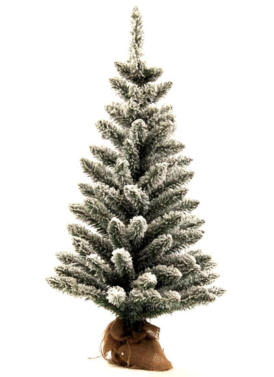 3' King Flock® Artificial Christmas Tabletop Tree Unlit