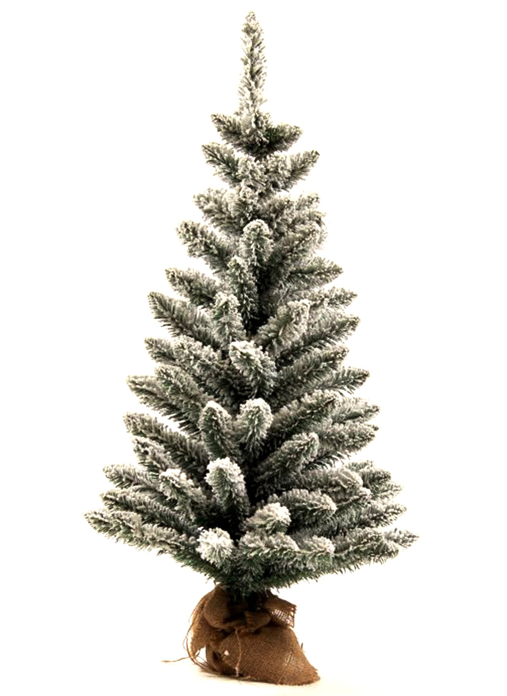3' King Flock® Artificial Christmas Tabletop Tree with 50 Warm White LED Lights