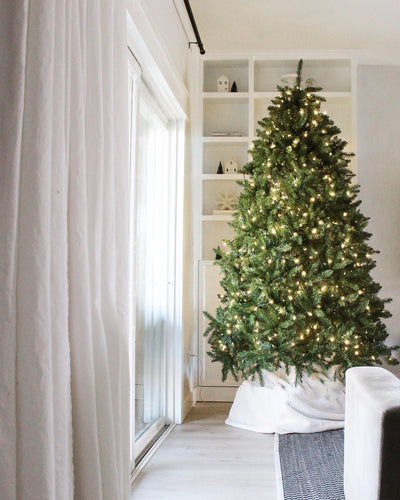 (OPEN BOX) 7.5' Yorkshire Fir Artificial Christmas Tree Unlit, FINAL SALE