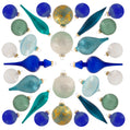 Load image into Gallery viewer, Snowflake 30-Piece Glass Ornament Set (Blue) Limited Edition