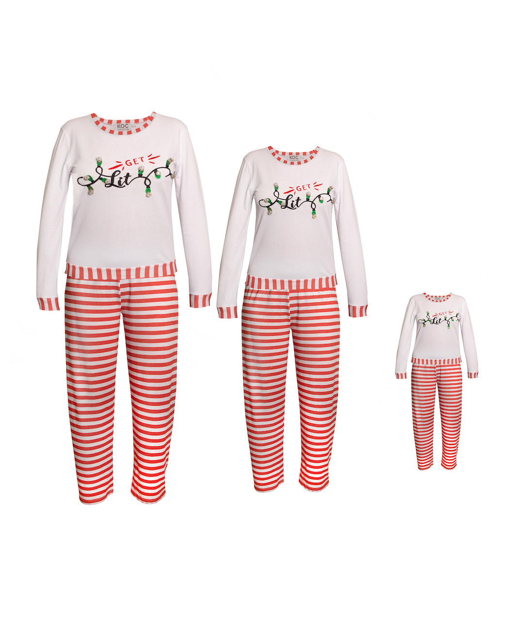 Get Lit Family LED Light Up Pajama Set