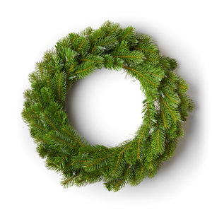 "24"" King Douglas Fir Wreath with Warm White LED Lights (Battery Operated)"
